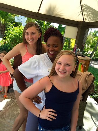 Braiding Hair And Also Waterproof Tattoos This Woman Has Braided Their Every Time We Vacation H Picture Of Beaches Turks Caicos Resort Villages Spa Providenciales Tripadvisor