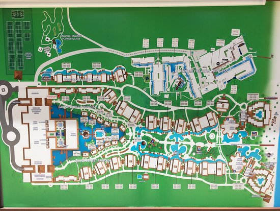 Map Of All Hotels In The Resort Picture Of Platinum