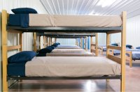 46 beds in common sleeping area - Foto di The Rustic Red ...