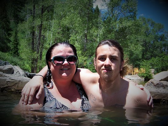 Strawberry Park Hot Springs Mom And Son