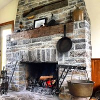 The rustic stone fireplace! - Picture of Inn-Lake on the ...