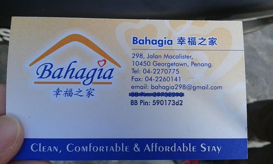 Bahagia Home Georgetown Malaysia Review Guest House