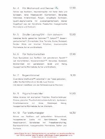 Frhstckskarte  Foto di Dinzler Kaffeerosterei