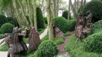 Interesting wood stick sculptures in the gardens - Photo ...