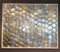 Wall art comprised of tin can lids - Picture of The Old ...