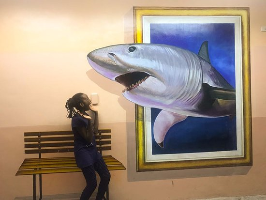 3D wall art. - Picture of Ocean Adventure, Subic Bay Freeport Zone