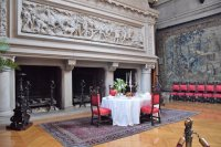 Three-opening fireplace in the dining room - Picture of ...