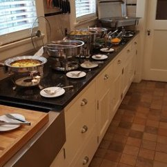 Kitchen Buffet L Shaped Outdoor The Delicious Saturday Feast Hot Breakfast Set Up In Leonard At Logan House Bed