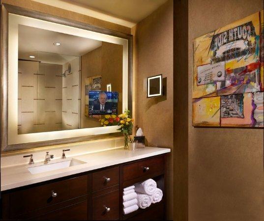 TV in Bathroom Mirror  Picture of Omni Dallas Hotel