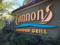 Front entrance sign - Picture of Cannons Seafood Grill ...