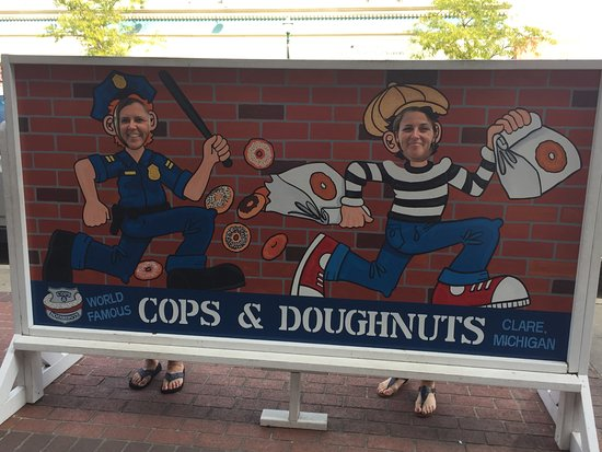 Cute props inside and out! Picture of Cops Doughnuts
