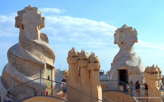 Chimeneas decoradas de la Casa Mil  La Pedrera de Antoni Gaud  Picture of Casa Mila  La