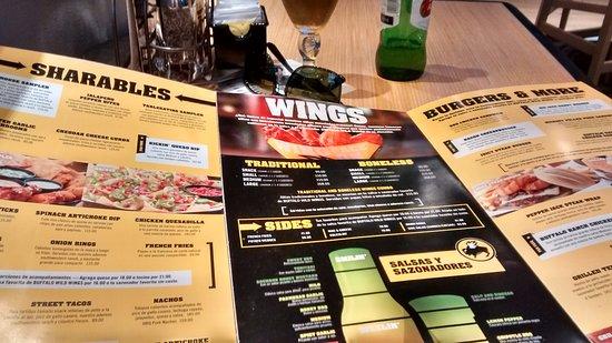 Buffalo Wild Wings Menu Precios