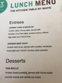 Foto de The Kitchen Table by White, Palm/Eagle Beach: The ...
