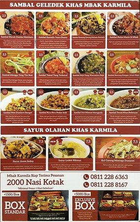 Menu Sambal Karmila : sambal, karmila, Sambal, Karmila, Picture, Karmila,, Bandung, Tripadvisor