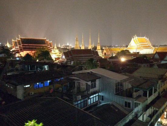 Nightime View Of Wat Pho From Terrace Restaurant Picture