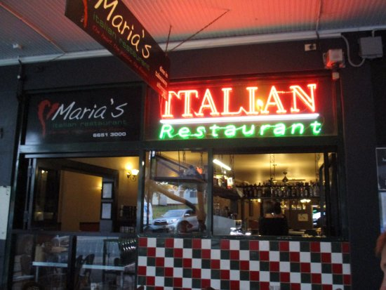 streetfront  Picture of Marias Italian Restaurant Coffs