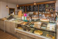 Coffee shop counter [Self service] - Picture of Caffe ...
