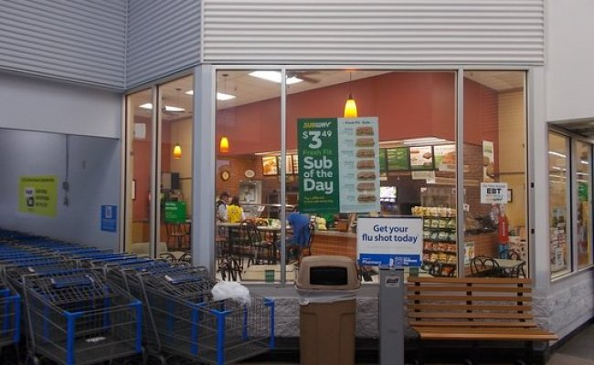 Subway Located Inside The Walmart Supercenter Off Hwy 87