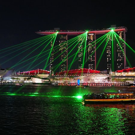 View Of Nightly Laser Show From Nearby Picture Of The