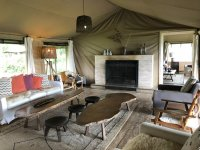 Living room area of main tent