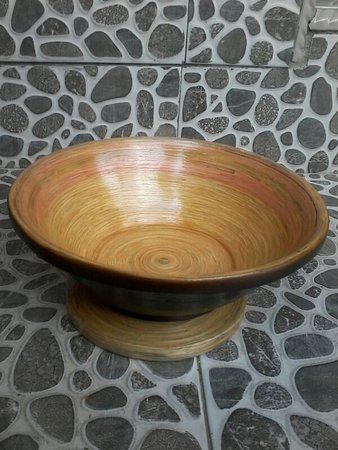 The Wooden Bowl Is One Of Great Creations By Mendut Craft Artist Picture Of Mendut Arts And Crafts Gallery Tripadvisor