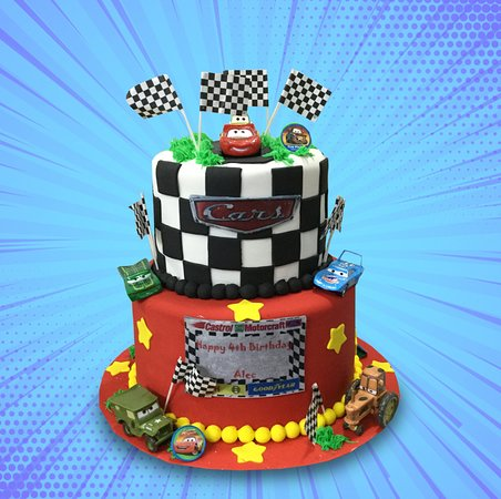 cars birthday cake picture