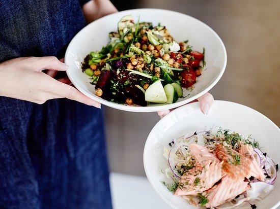 chopped salad and jasmine