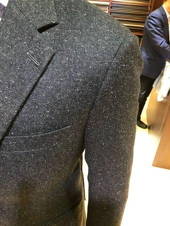 Milanese Buttonhole : milanese, buttonhole, Second, Fitting, Flannel, Blazer, Milanese, Buttonhole, Picture, Empire, International, Tailors,, Tripadvisor