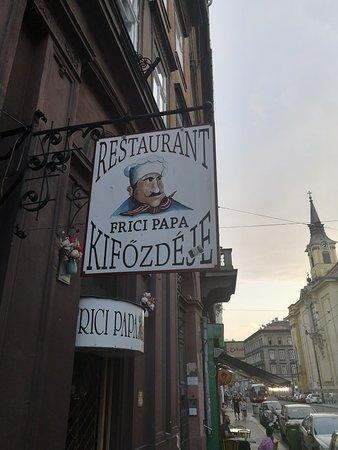 Frici Papa Kifozdeje Budapest  Ristorante Recensioni