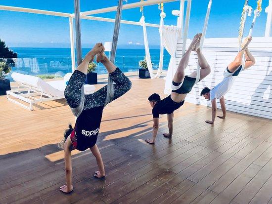 anti gravity yoga on