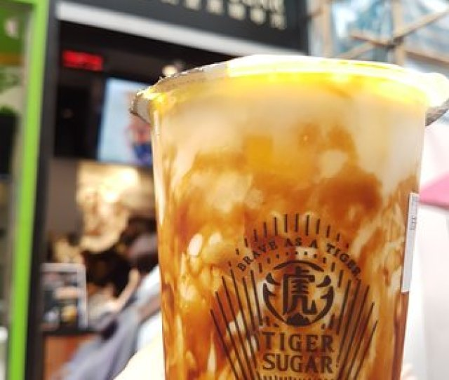 Brown Sugar Boba Milk With Cream Mousse Picture Of Tiger Sugar