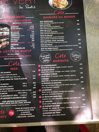 La Carte Des Desserts Picture Of La Brasserie Du Carre Vert Colomiers Tripadvisor