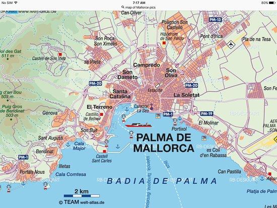 pic of a map palma de mallorca bild
