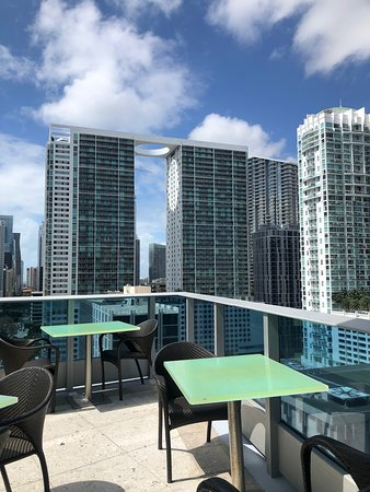 view of brickell district from patio