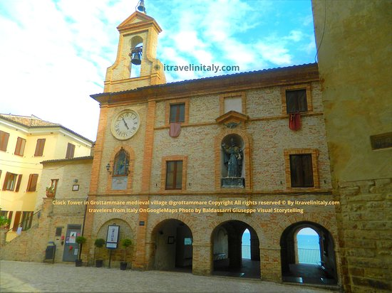 I Travel In Italy Introduce The Clock Tower In Grottammare