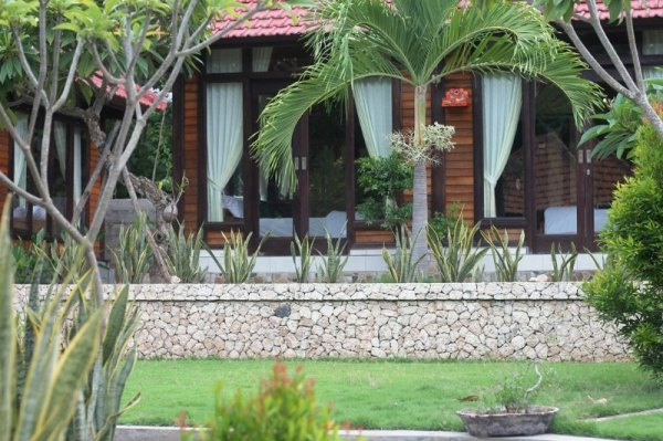 private cottage with tropical garden