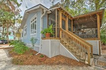 tybee island home with screened porch