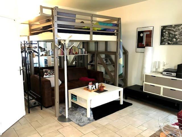 joli studio avec lit mezzanine paris