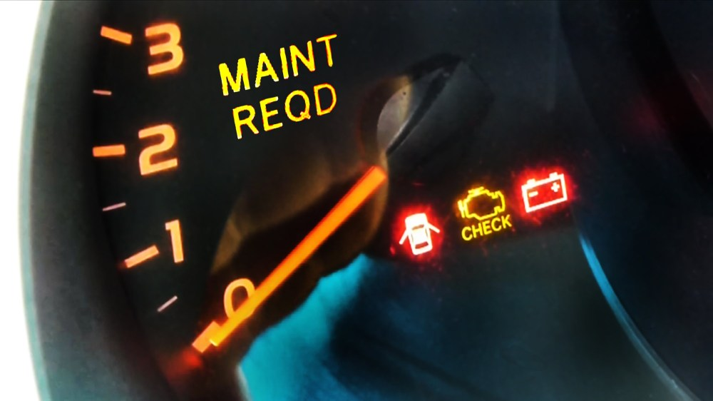 medium resolution of image of lexus dashboard showing maintenance required light