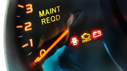 small resolution of image of lexus dashboard showing maintenance required light