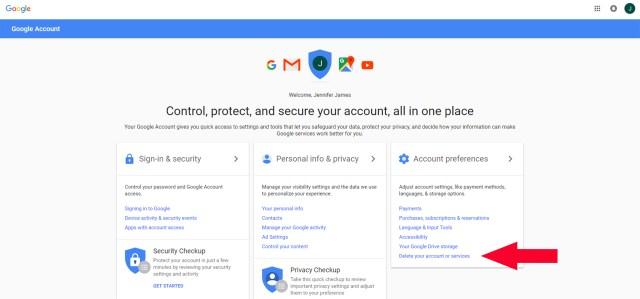 How to delete a gmail account or deactivate it in 10