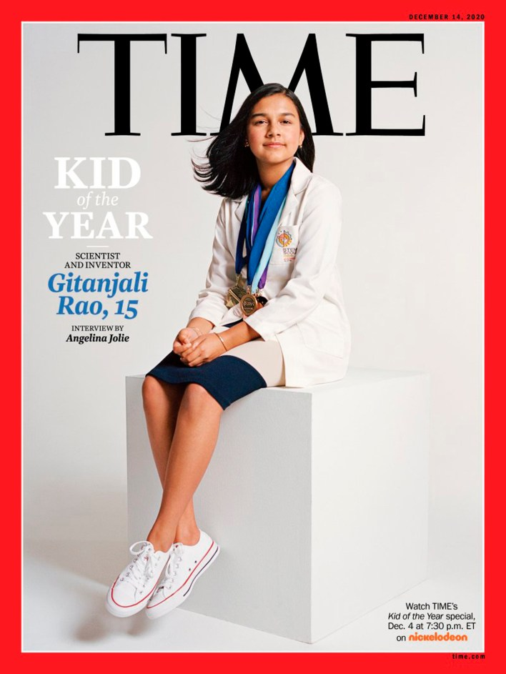 student scientist and inventor gitanjali rao is time magazine's first 'kid of the year'