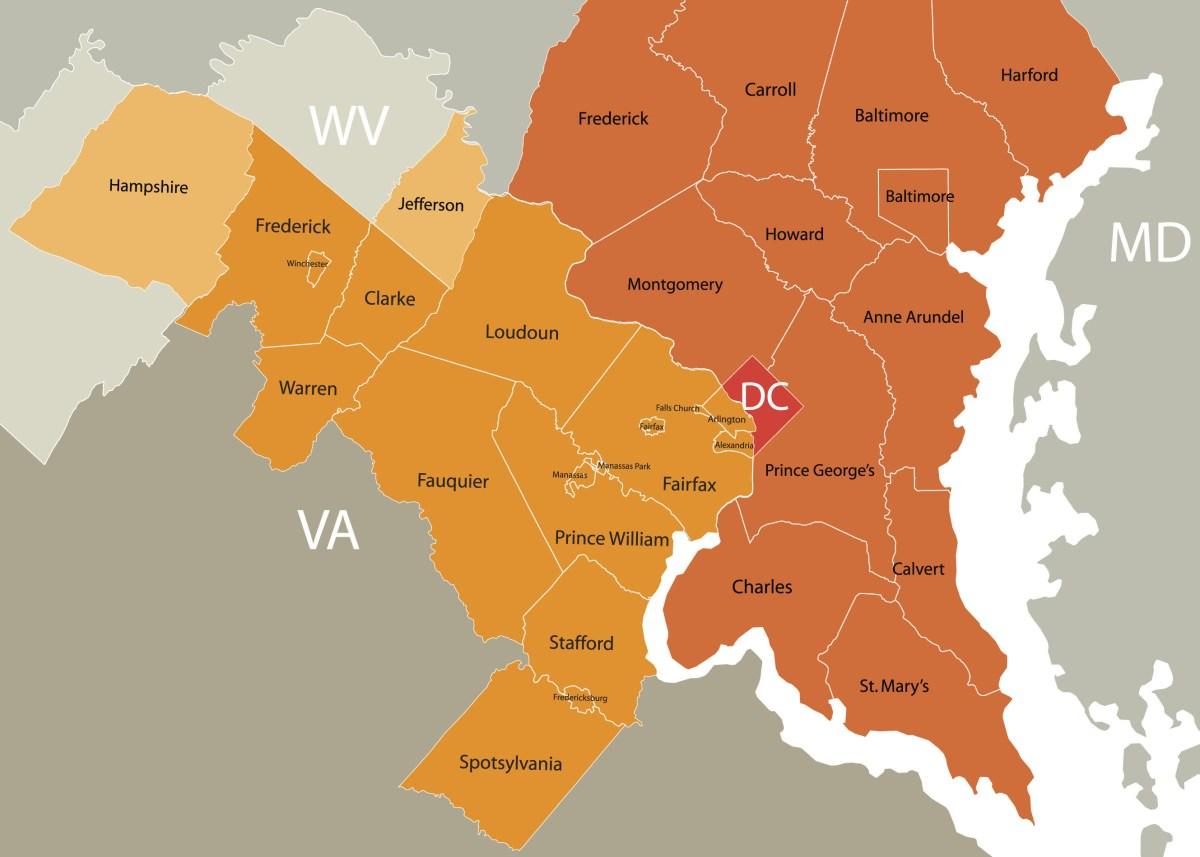 DMV counties