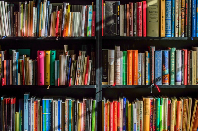 books shelves filled with books