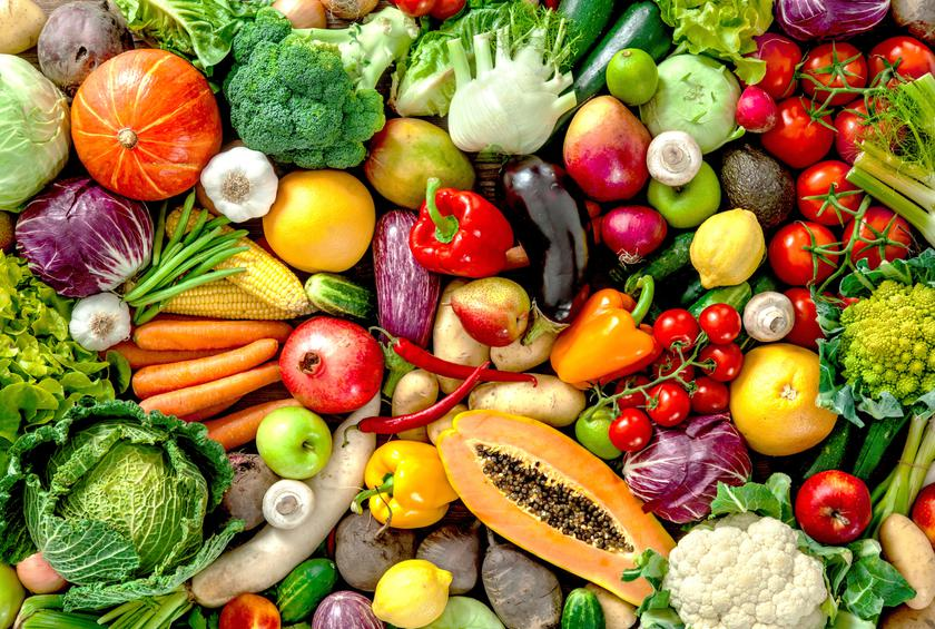 brightly colored fruits and vegetables