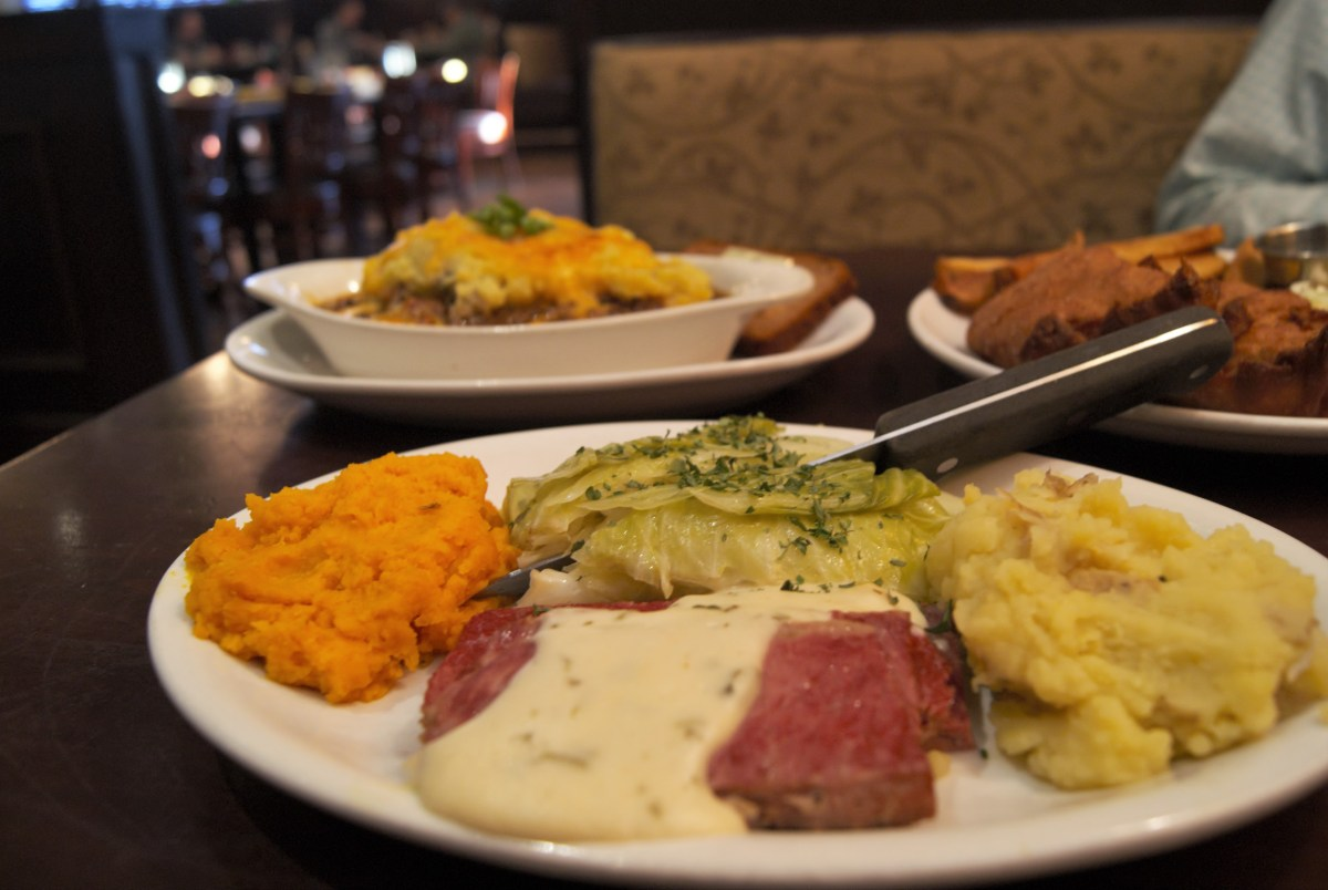 corned beef and cabbage, fish and chips, shepherd's pie