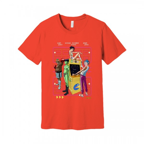 Look at them (poster for pac man on gorillaz store). Pac Man T Shirt Gorillaz