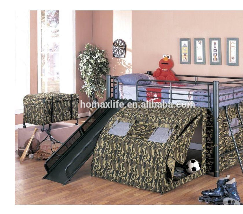lit superpose avec toboggan conde sur