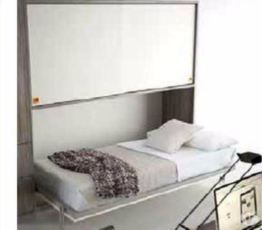 letto singolo a scomparsa ribalta con armadio scorrevole